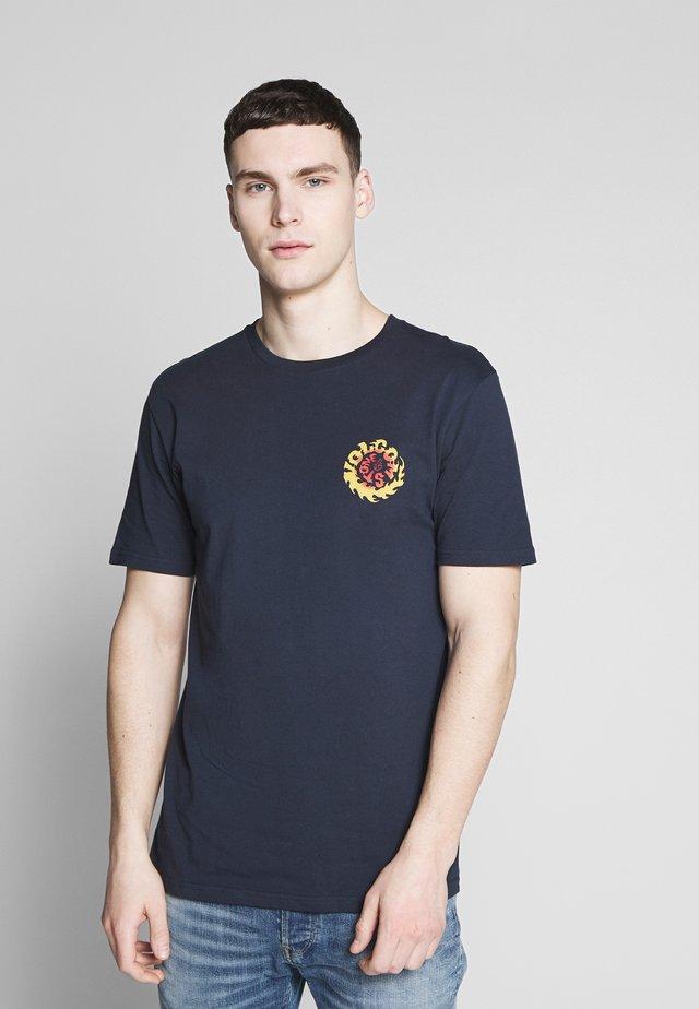 THROTTLE - T-shirt med print - dark blue