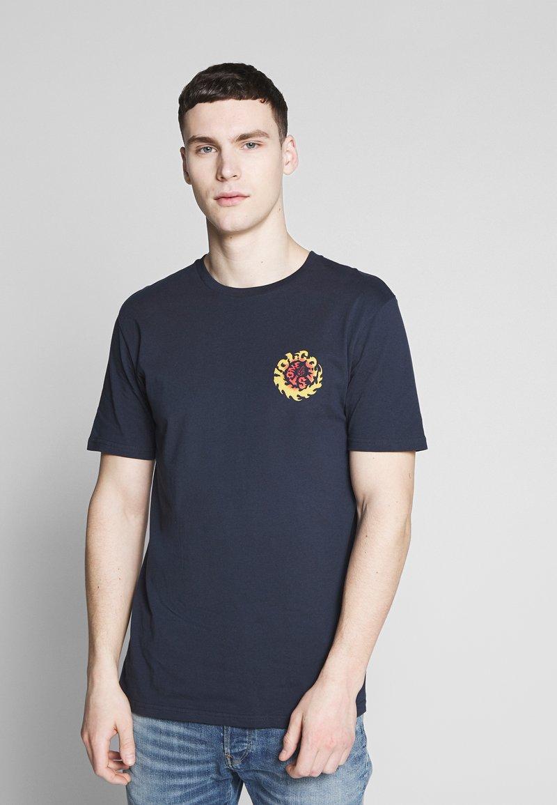 Volcom - THROTTLE - Camiseta estampada - dark blue