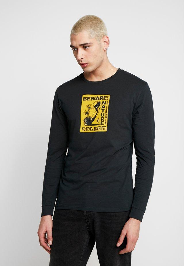 LISTEN - Long sleeved top - black