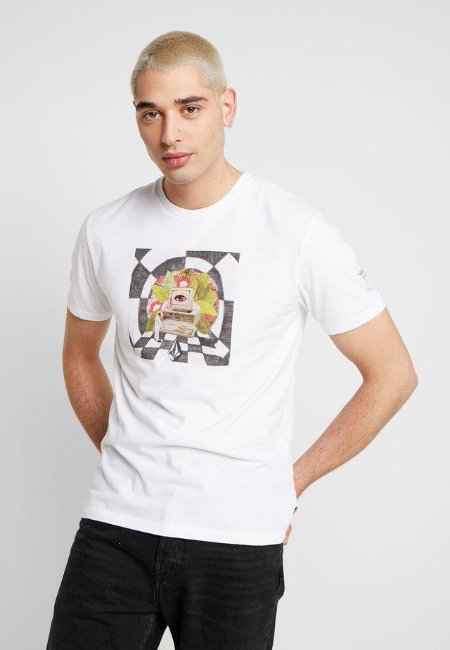 SCHNIPPS - T-shirt med print - white