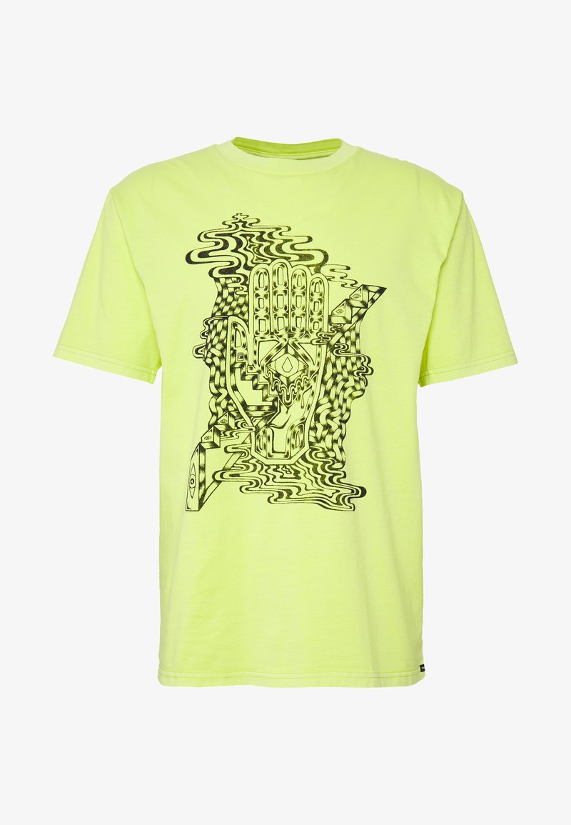 Volcom - CLAIRVOYANT TEE - Print T-shirt - hilighter green