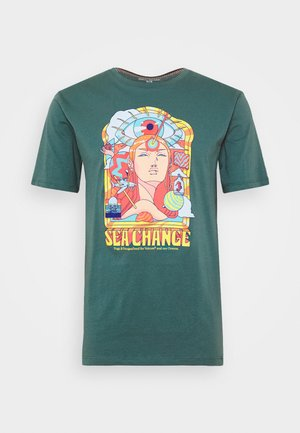 PANGEA SEED TEE - T-shirt con stampa - hydro blue