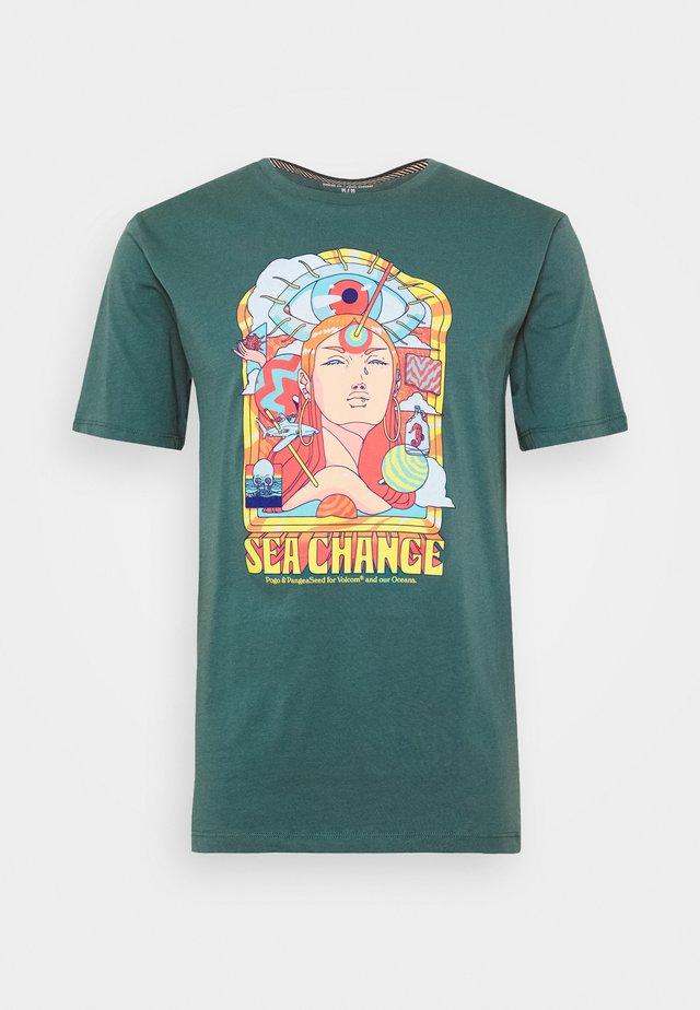 PANGEA SEED TEE - T-shirts print - hydro blue