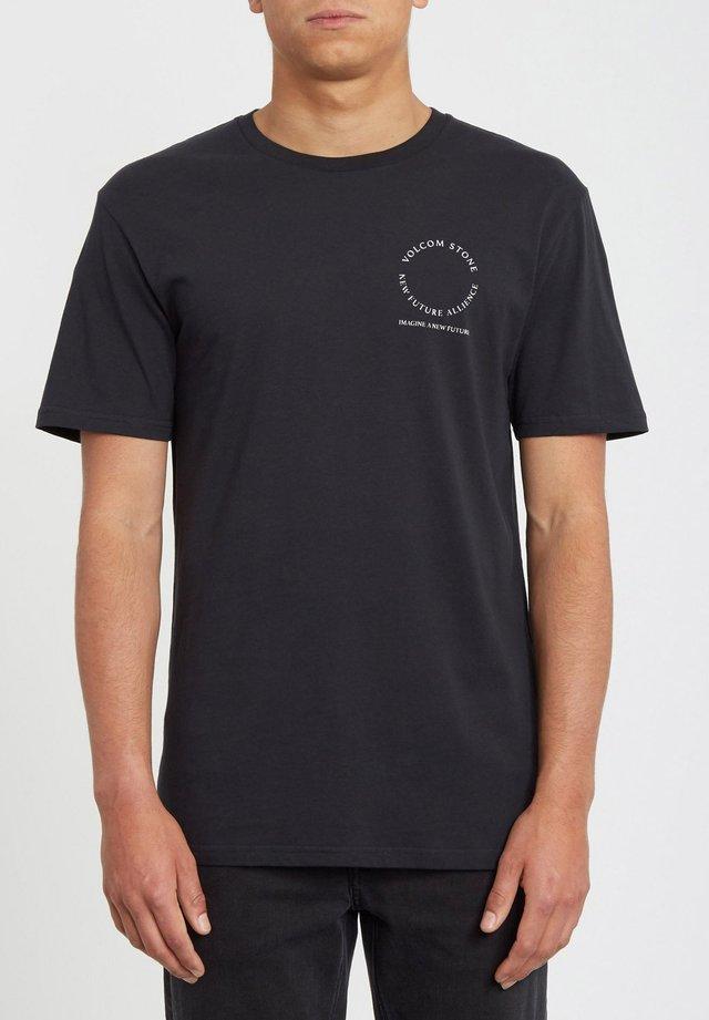 ALLIANCE - Print T-shirt - black