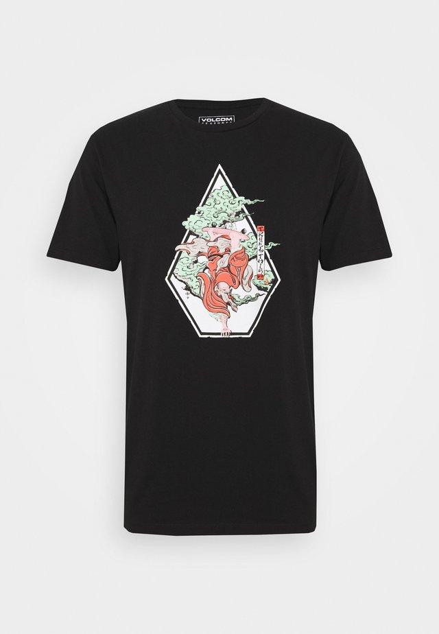 NOZAKA SKATE  - Print T-shirt - black