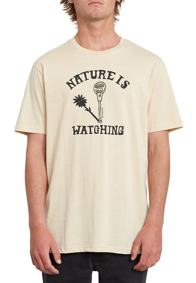 METER HEATHER  - Print T-shirt - white_flash
