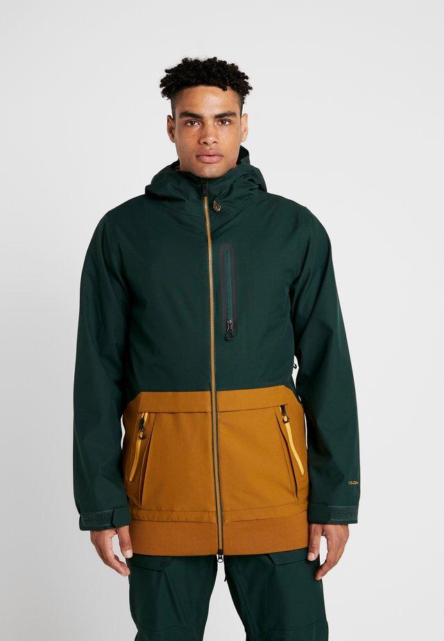 LONG JACKET - Snowboard jacket - dark green