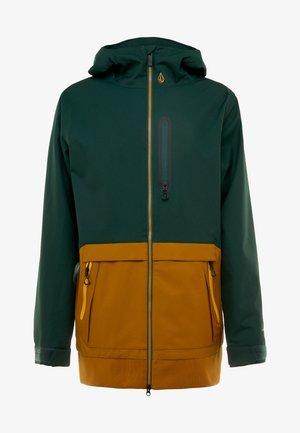 LONG JACKET - Snowboardová bunda - dark green