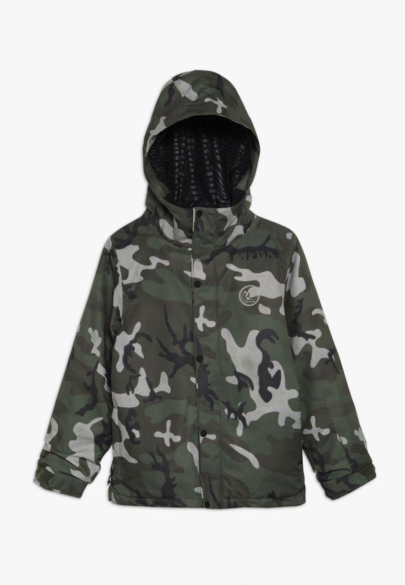 Volcom - RIPLEY INS JACKET - Snowboardjacka - green/black