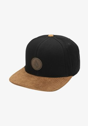 QUARTER FABRIC - Cap - black