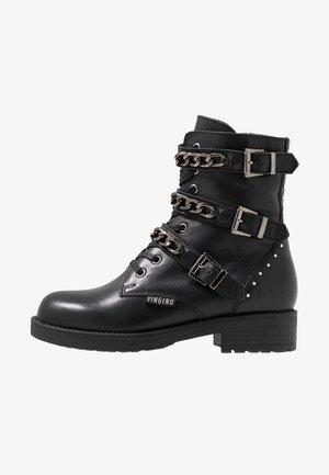 RAFAELA - Cowboy/biker ankle boot - black
