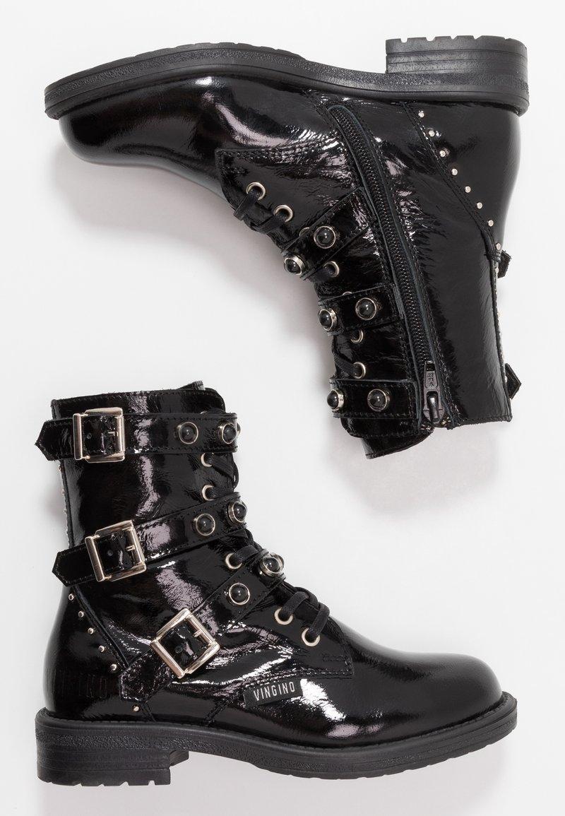 Vingino - AIMEE - Cowboy/biker ankle boot - black vintage