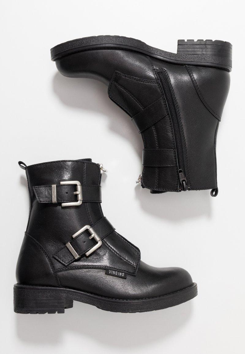 Vingino - NOELIA - Cowboy/biker ankle boot - black