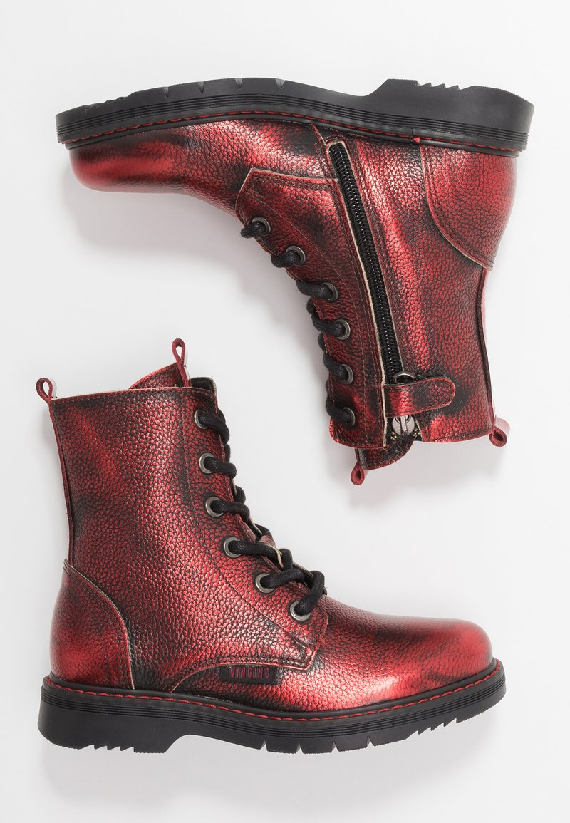 Vingino - DORY - Lace-up ankle boots - dark red