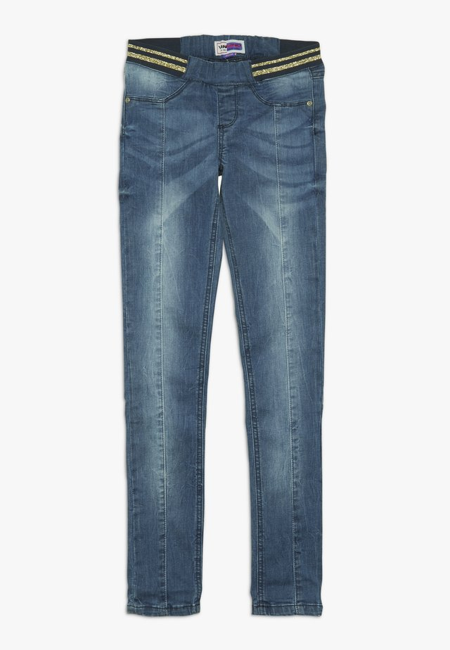 BENTHE - Jeggings - mid blue wash