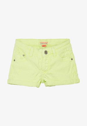 DELIA - Denim shorts - neon yellow