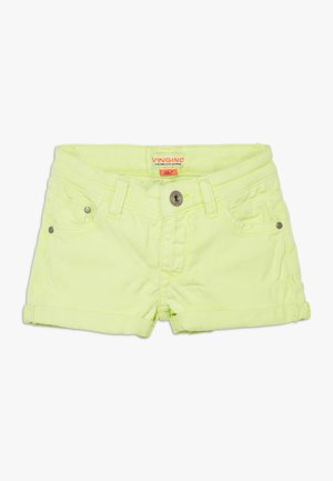 DELIA - Denim shorts - neon yellow