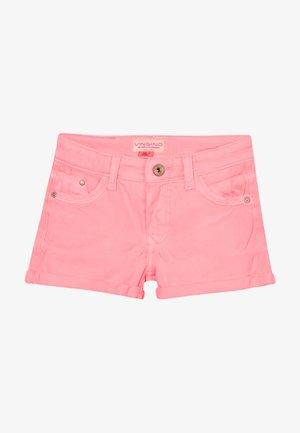 DELIA - Denim shorts - neon pink