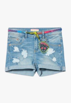 DAFINA - Denim shorts - light blue denim