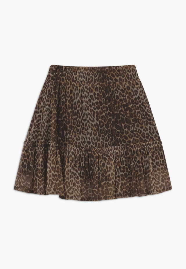 QINDEE - A-line skirt - brown