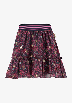 QYELLE - A-line skirt - dark blue