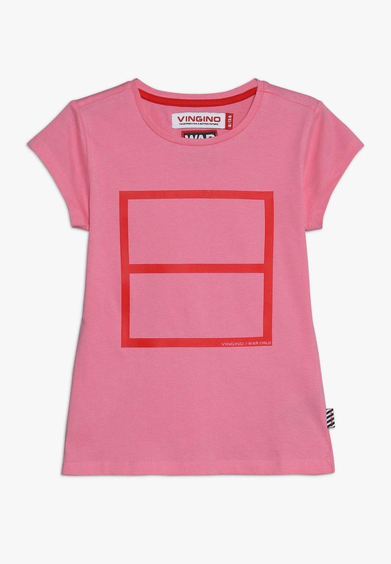 Vingino - LULU WAR CHILD - T-Shirt print - deep pink