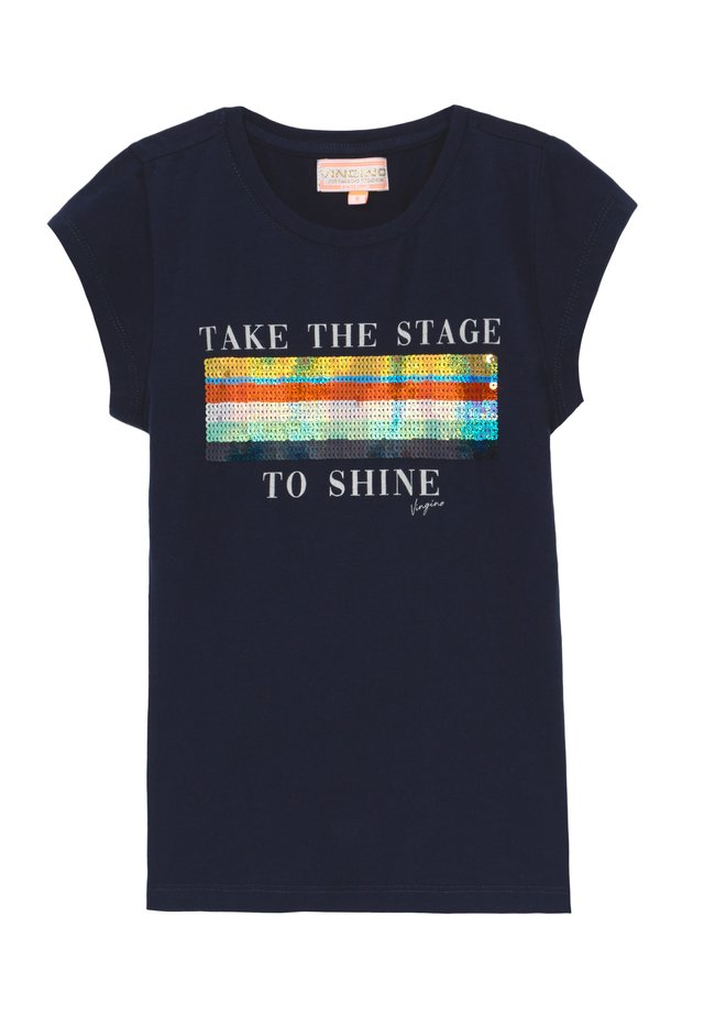 HARSINA - Print T-shirt - dark blue