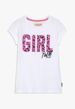 HILANY - T-shirt print - real white