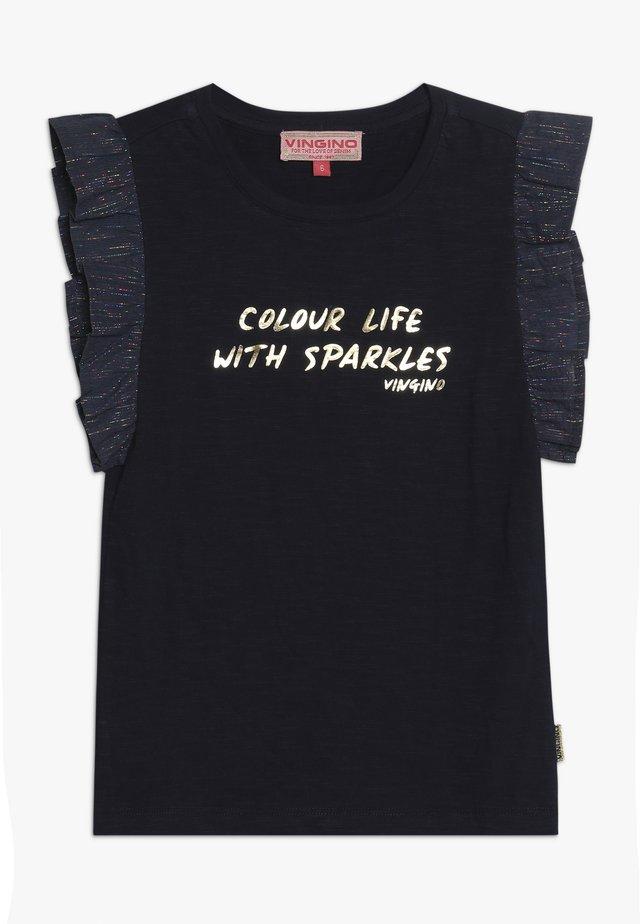 HIVAE - T-shirt med print - dark blue
