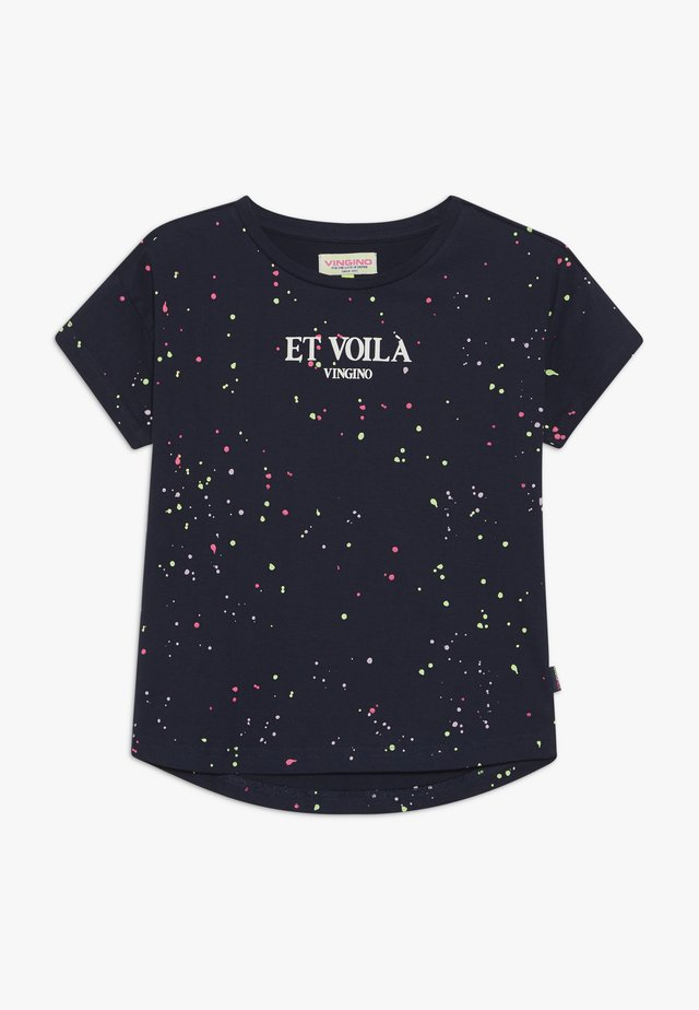 HEATHER - T-shirt print - dark blue