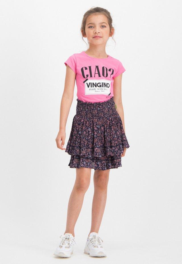 HINRY - Print T-shirt - gloss pink