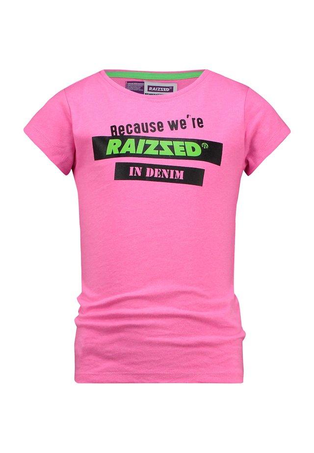 ATLANTA REAL - Print T-shirt - neon pink