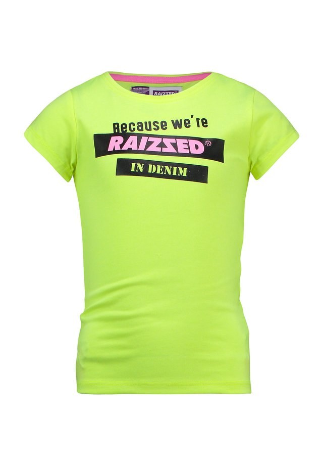 ATLANTA REAL - Print T-shirt - sparkle lime