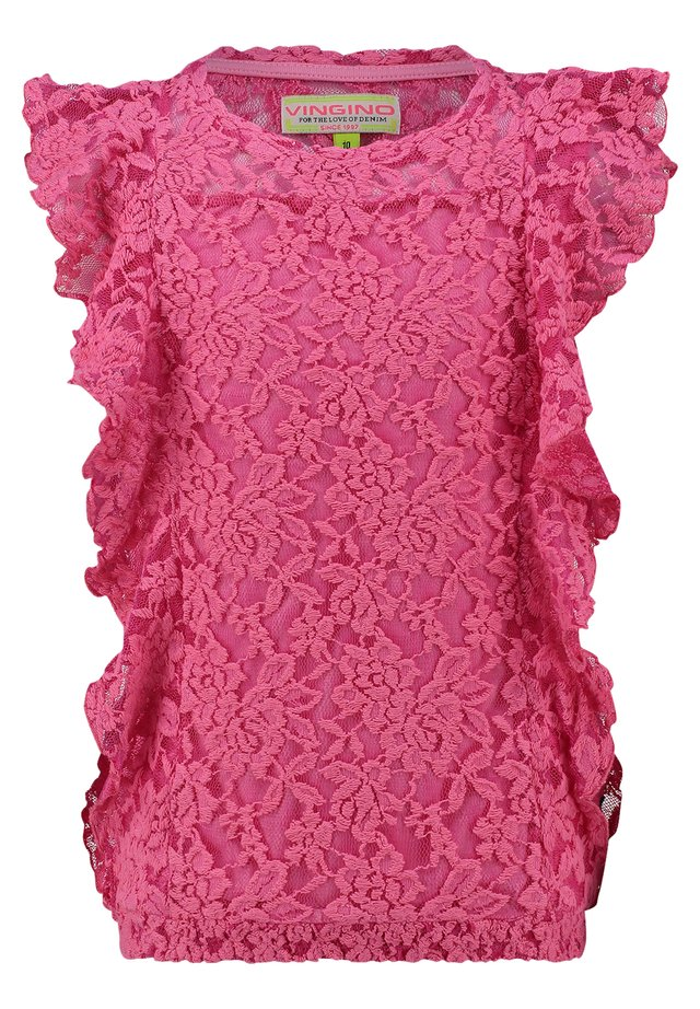 HESTINA - Blouse - neon pink