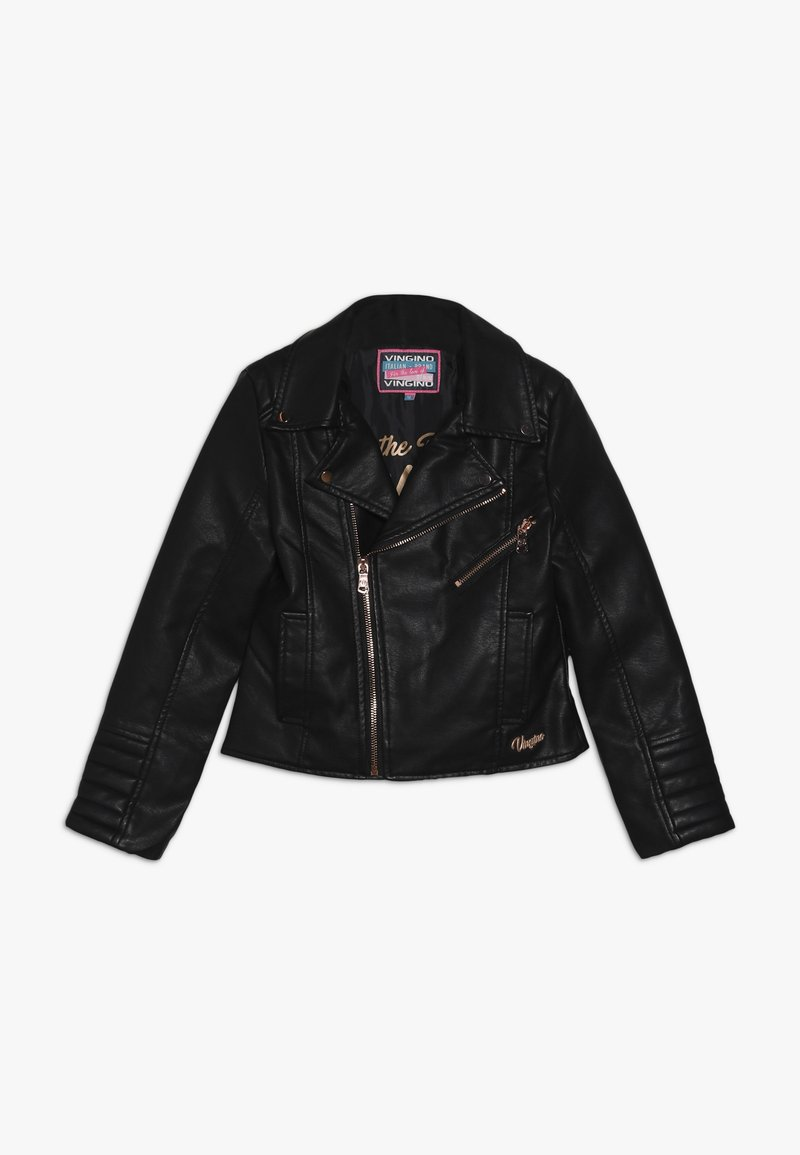 Vingino - TOCKY - Faux leather jacket - deep black