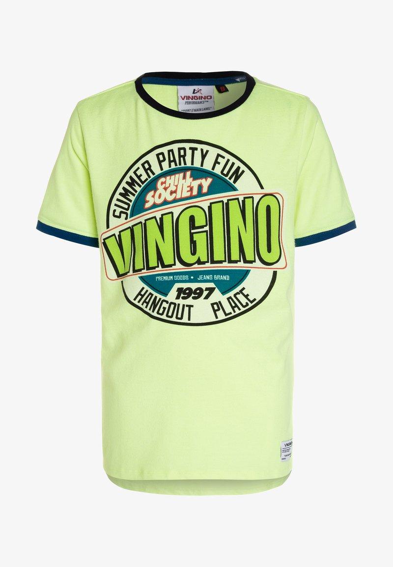 Vingino - HESPARA - T-Shirt print - neon yellow