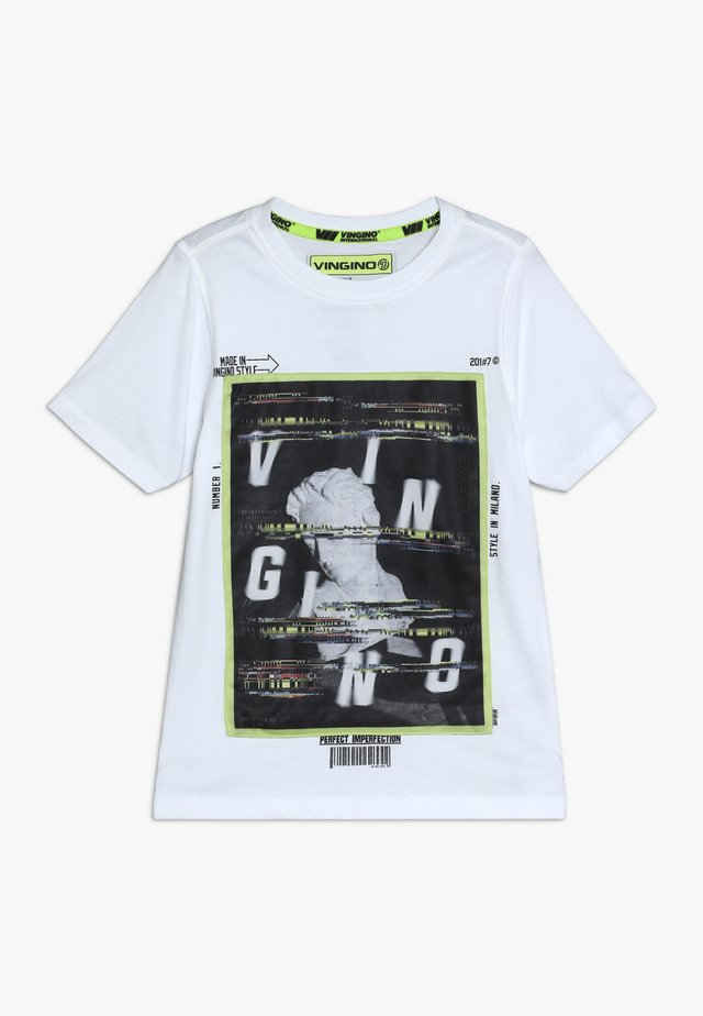 HEFFIE - T-Shirt print - real white