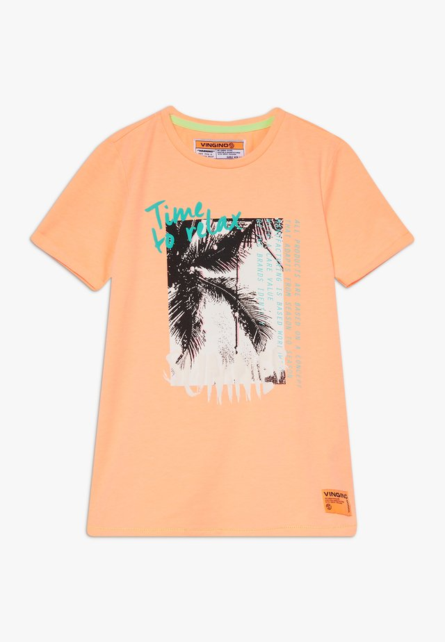 HAFSSA - T-shirts med print - neon orange