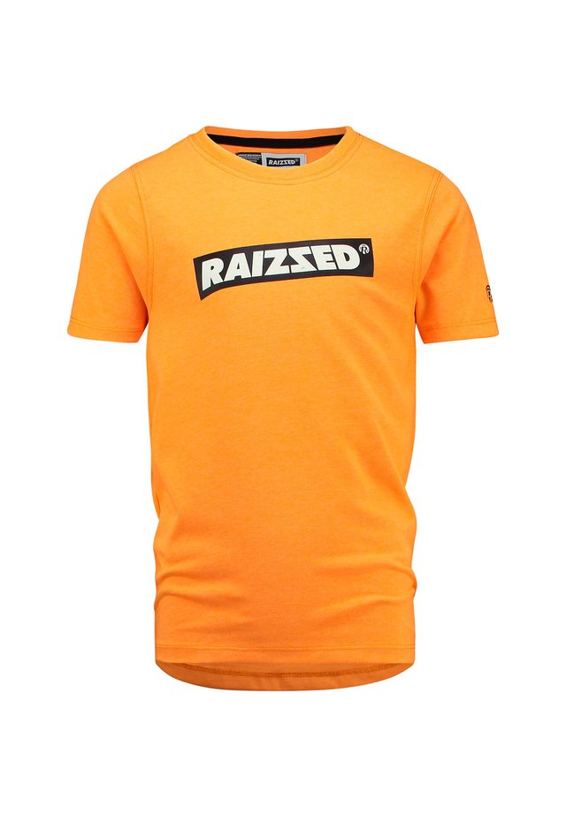 Print T-shirt - neon orange