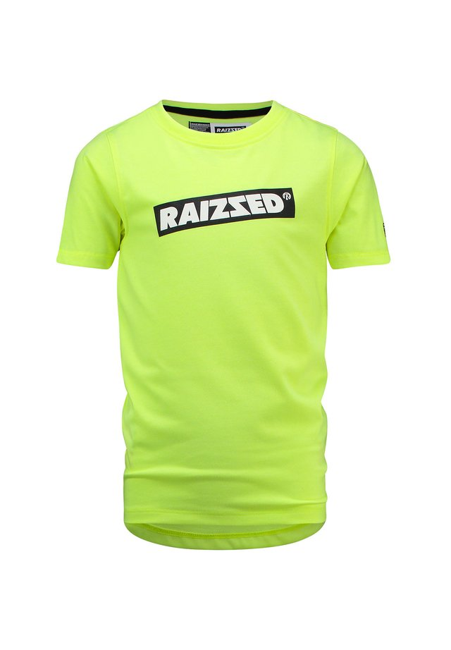 Print T-shirt - sparkle lime