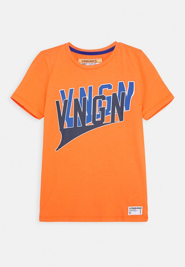 HADDY - Camiseta estampada - grape orange