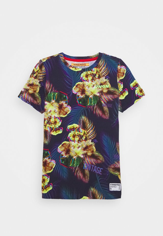 HAAZIM - Camiseta estampada - multicolor/blue