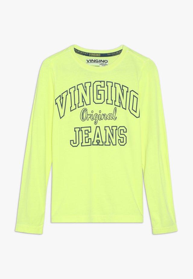 JEAT - Pitkähihainen paita - neon yellow