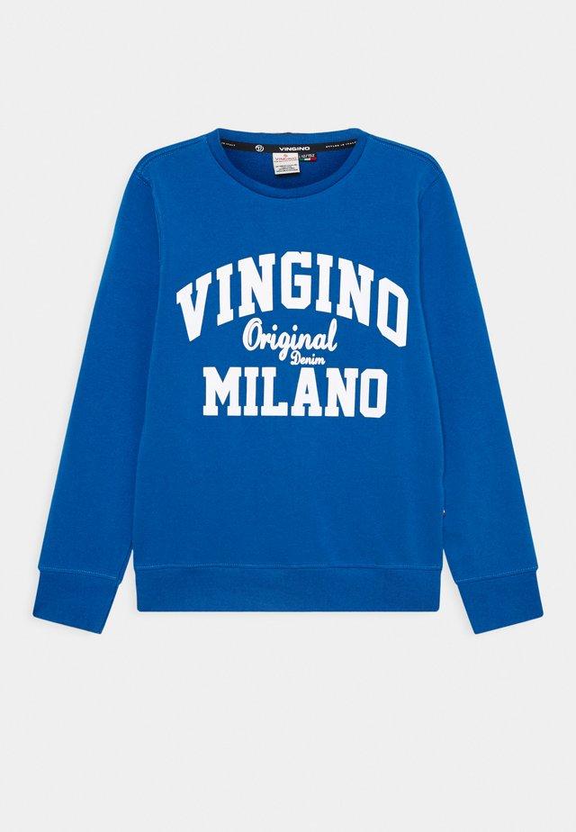 LOGO CREW - Sweatshirt - pool blue