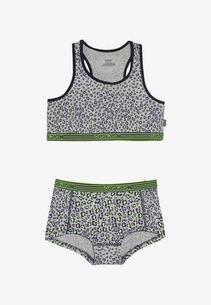 LEOPARDACID - Sada spodního prádla - grey mele