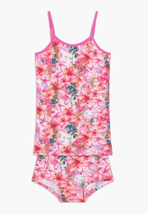 TROPICAL SET - Underwear set - neon pink
