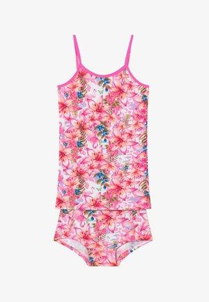 TROPICAL SET - Sada spodního prádla - neon pink
