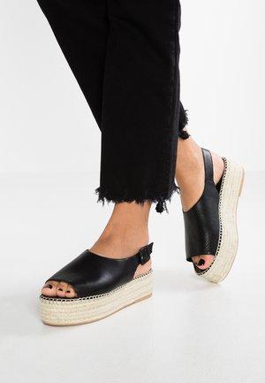 CELESTE - Korkeakorkoiset sandaalit - black
