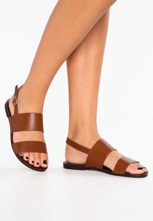 TIA - Sandals - cognac