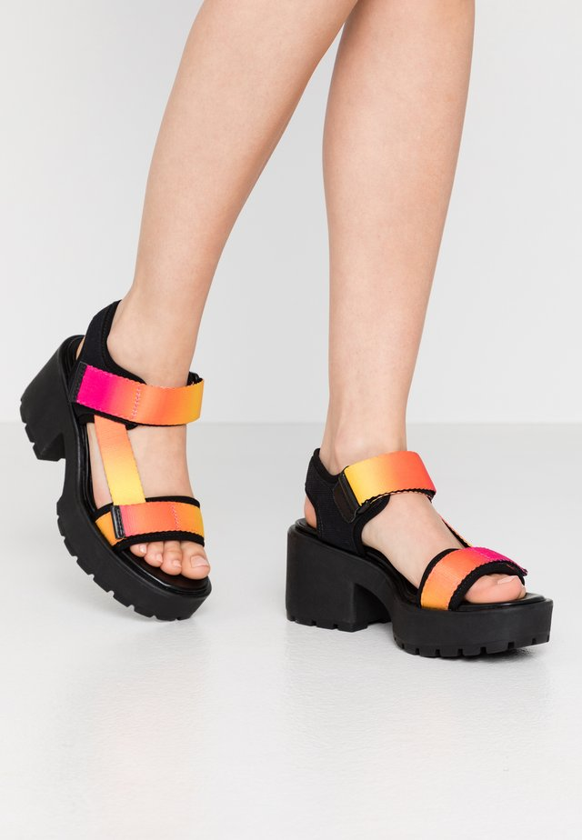 DIOON - Platform sandals - pink/multicolor